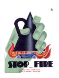 Stop Fire Giclee Print by Charles Loupot
