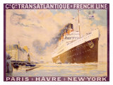Transatlantique, French Line Giclee Print by Albert Sebille