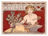 Waverley Cycles Giclee Print by Alphonse Mucha