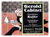 Gerold Cabinet Kaffee Giclee Print by J. Loe