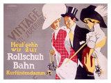 Rollschuh Bahn Giclee Print by Fritz Rumpf