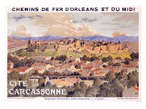 Cite de Carcassone Giclee Print by Eugene Grasset