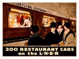 Restaurant Cars Giclee Print by  MASON