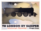 To London by Sleeper Giclee Print by Alexander Alexeieff