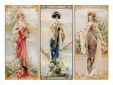 Three Silk Panels Giclee Print by Gaspar Camps