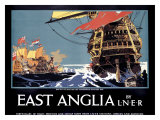 East Anglia Liner Giclee Print by Frank Mason