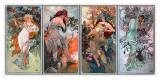 Alphonse Mucha - Four Seasons Digitálně vytištěná reprodukce