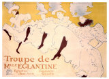 Troupe de Eglantine Giclee Print by Henri de Toulouse-Lautrec