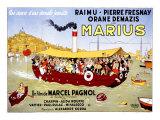 Marius Reproduction procédé giclée par Albert Dubout