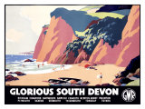 Glorious South Devon Giclee Print by Leonard Cusden