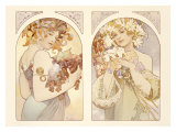 Fruits and Flowers Giclee Print by Alphonse Mucha