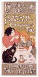 Chocolats et thés Reproduction procédé giclée par Théophile Alexandre Steinlen