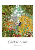Jardín de flores Lámina por Gustav Klimt