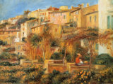 Terraces in Cagnes, c.1905 Prints by Pierre-Auguste Renoir