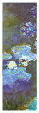Water Lilies and Agapanthus (detail) Posters by Claude Monet