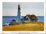Lighthouse, Porthead Lminas por Edward Hopper