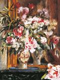 Peonies, Lilas and Tulips Láminas por Pierre-Auguste Renoir