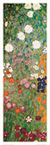 Bl&#252;hender Garten mit Pfad (Detail) Kunstdruck von Gustav Klimt