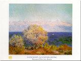 Cap d'Antibes, Mistral Affiche par Claude Monet