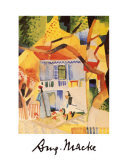 The Country House Court at St. Germaine Prints by Auguste Macke