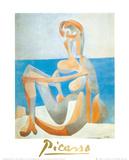 Baigneuse Assise au Bord de la Mer, c.1930 Pôsters por Pablo Picasso