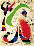 Night Poster by Joan Mir&#243;