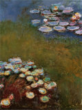 Water Lilies, Harmony in Blue Posters by Claude Monet