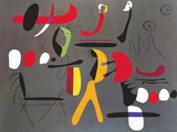 Joan Miró - Peinture Collage - Tablo