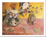 Flowers and a Japanese Print, c.1889 Poster by Paul Gauguin