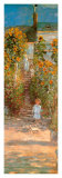 Claude Monet - The Garden at Vetheuil (detail) - Art Print