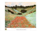 Poppy Field In A Hollow Plakater av Claude Monet