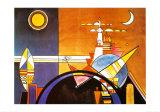 La Grande Piazza a Kiev Plakater af Wassily Kandinsky