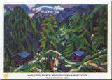 Mountain Landscape Prints by Ernst Ludwig Kirchner