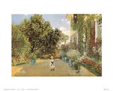 The Artist's House Kunstdrucke von Claude Monet