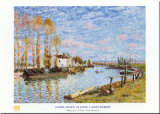 Le Loing A Saint-mammes Prints by Alfred Sisley