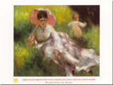 Women W/parasol Prints by Pierre-Auguste Renoir