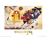 Gul, rød og blå, ca. 1925 Posters av Wassily Kandinsky