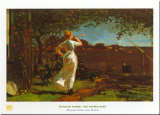 The Dinner Horn Prints by Winslow Homer