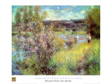 Seine At Chatou Print by Pierre-Auguste Renoir