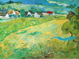 Sunny Meadow in Arles, c.1890 Prints by Vincent van Gogh