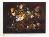 Flowers In Basket Posters by Severin Roesen