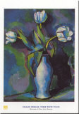 Trois tulipes blanches Affiches par Charles Sheeler