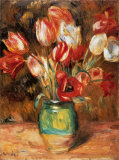 Tulips in a Vase Art by Pierre-Auguste Renoir