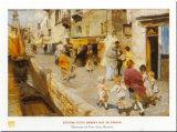 Breezy Day In Venice Prints by Ettore Tito