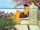 Under The Blossom That Hangs On The Bough, c.1917 Print by John William Godward