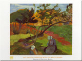 Two Breton Women Prints by Paul Gauguin
