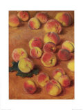 Peaches Prints by Claude Monet
