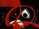 Kopf Posters by Joan Mir&#243;