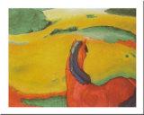 Horse In A Landscape, 1910 Poster von Franz Marc