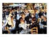 Le Moulin de la Galette Prints by Pierre-Auguste Renoir